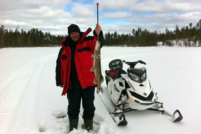 Winter fishing season in Karelia